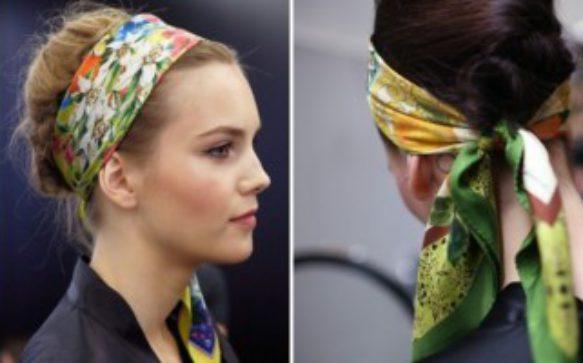 Acconciature: più belle con la fascia e il foulard